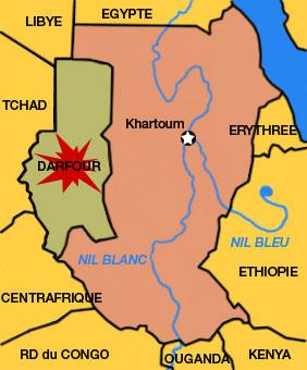 Soudan : un festin pour hyènes, chacals et vautours  Soudan-Darfour-Map