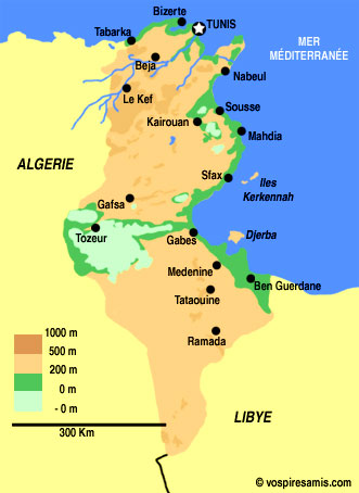 tunisie relief